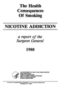 Surgeon General's report 1988,