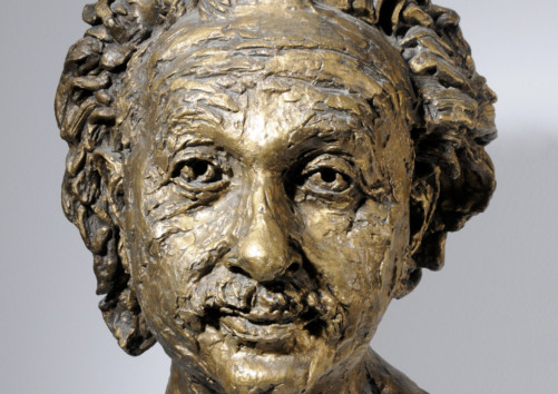 Einstein in 1933 by Sir Jacob Epstein