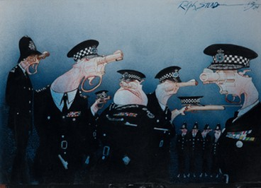 ralph-steadman-exhibit-Police-Butt-Heads-s