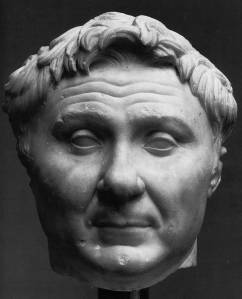 Cn. Pompeius Magnus. Marble bust of Pompeius,  ca. 50 B.C.  Copenhagen.